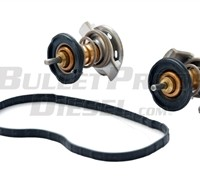 COOLANT THERMOSTAT (SET OF TWO), FORD 6.4L DIESEL