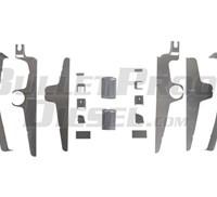 Intercooler Tank Upgrade Kit, Aluminum, Ford Diesel