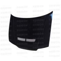 JDM-SIR-style carbon fiber hood with vent for 1988-1991 Honda CRX
