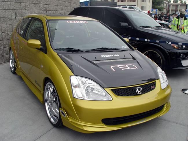 vsii style carbon fiber hood for 2002 2005 honda civic si garagerz automotive. Black Bedroom Furniture Sets. Home Design Ideas